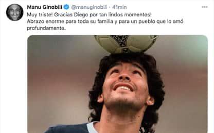 """Maradona, il saluto di Ginobili: """"Grazie Diego"""""""