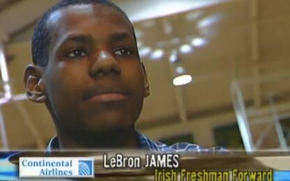 LeBron al 1° anno di liceo: il suo commento. VIDEO