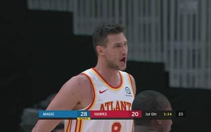 Gallinari, 14 punti nella prima con Atlanta. VIDEO
