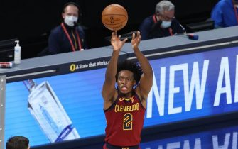 INDIANAPOLIS, INDIANA - DECEMBER 31:  Collin Sexton #2 of the Cleveland Cavaliers shoots the ball against the Indiana Pacers  at Bankers Life Fieldhouse on December 31, 2020 in Indianapolis, Indiana.     NOTE TO USER: User expressly acknowledges and agrees that, by downloading and or using this photograph, User is consenting to the terms and conditions of the Getty Images License Agreement.    (Photo by Andy Lyons/Getty Images)