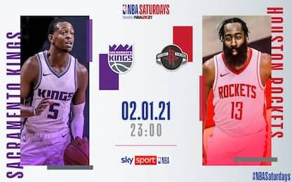 NBA Saturdays: Houston sfida di nuovo Sacramento