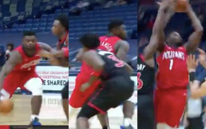 Zion il ballerino: super giocata contro Toronto