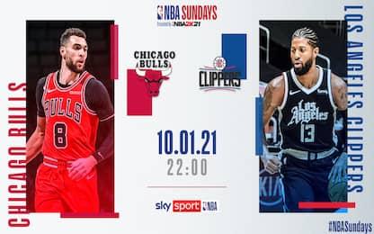 LA Clippers-Chicago alle 22 su Sky Sport NBA
