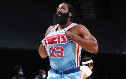 Brutte notizie per i Nets: Harden non recupera
