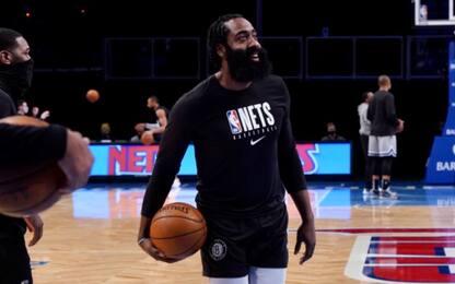 James Harden debutta coi Brooklyn Nets. FOTO