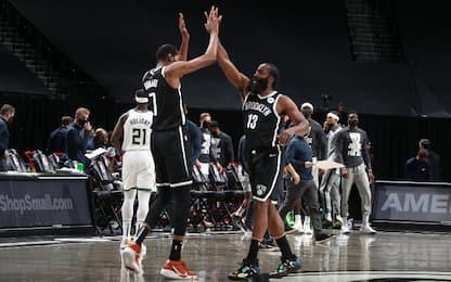 KD-Harden battono i Bucks; ok Grizzlies e Spurs