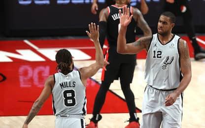 Spurs trascinati dalla panchina; ok Knicks e Hawks