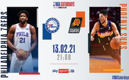 NBA Saturdays: Phoenix-Philadelphia alle 21 su Sky