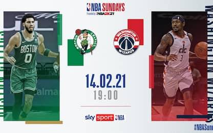 NBA Sundays: Washington-Boston alle 19 su Sky