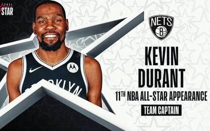 Kevin Durant non c'è, ma resta capitano all'ASG
