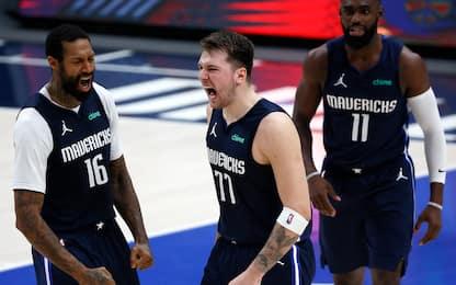Doppia magia Doncic, Boston ko. Bene 76ers e Nets
