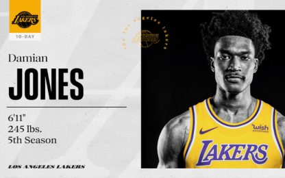 I Lakers firmano Damian Jones per 10 giorni