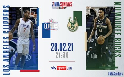 NBA Sundays: Bucks-Clippers alle 21.30 su Sky