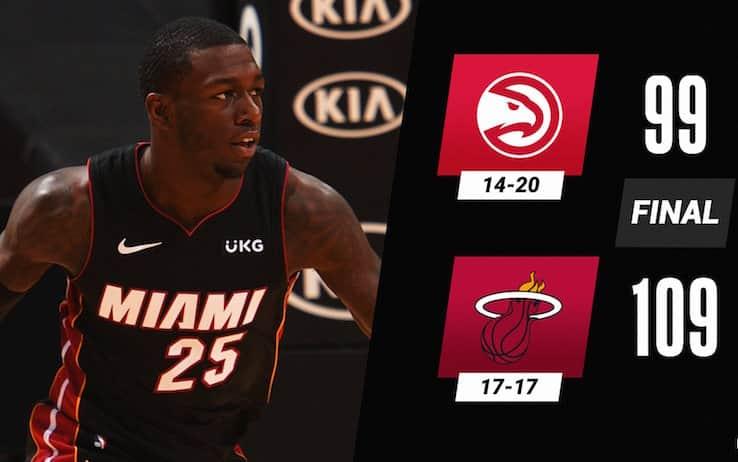 NBA – Cadono gli Atlanta Hawks di Gallinari, Miami vince la 6° di fila