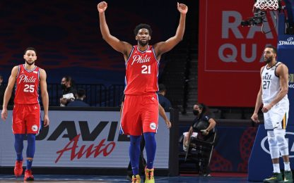 Embiid salva i Sixers, Harden ritorno trionfale