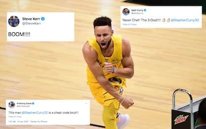 Curry, trionfo da 3 punti: reazioni del mondo NBA