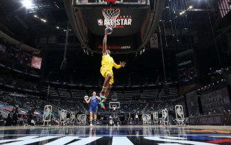 ATLANTA, GA - MARCH 7:  Chris Paul #3 of Team LeBron drives to the basket during the Taco Bell Skills Challenge as part of 2021 NBA All Star Weekend on March 7, 2021 at State Farm Arena in Atlanta, Georgia. NOTE TO USER: User expressly acknowledges and agrees that, by downloading and or using this photograph, User is consenting to the terms and conditions of the Getty Images License Agreement. Mandatory Copyright Notice: Copyright 2021 NBAE (Photo by Nathaniel S. Butler/NBAE via Getty Images)