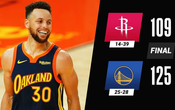 NBA – Nel segno di Steph Curry, Golden State supera Houston