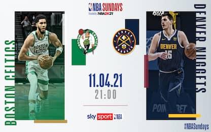 Denver-Boston in diretta alle 21 su Sky Sport NBA