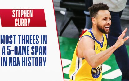 Curry da record: 44 triple in 5 partite. VIDEO