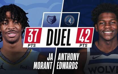 """Morant vs Edwards show: """"La NBA è in buone mani"""""""