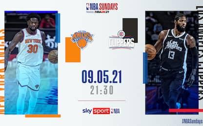 L.A. Clippers- New York Knicks LIVE su Sky Sport
