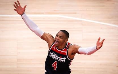 Westbrook e la tripla doppia della storia. VIDEO