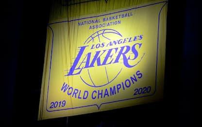 Lakers, svelato il banner del titolo 2020
