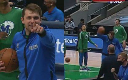 Doncic, come fai? Canestro mai visto prima. VIDEO