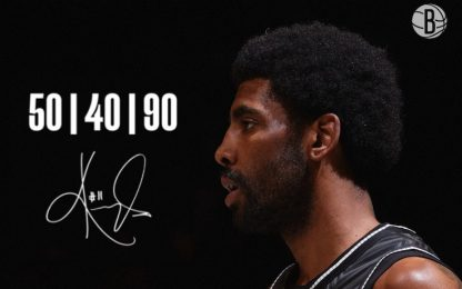 Irving entra nel club del 50/40/90. CLASSIFICA