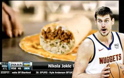 Jokic scelto dai Nuggets durante la pubblicità