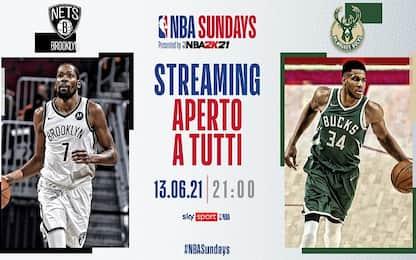 Bucks-Nets gara-4 in streaming stasera alle 21
