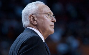 MIAMI, FL - NOVEMBER 19: Larry Brown of the Charlotte Bobcats looks on against the Miami Heat at the American Airlines Arena on November 19, 2010 in Miami, Florida. NOTE TO USER: User expressly acknowledges and agrees that, by downloading and or using this photograph, User is consenting to the terms and conditions of the Getty Images License Agreement. Mandatory Credit: 2010 NBAE (Photo by Chris Elise/NBAE via Getty Images)