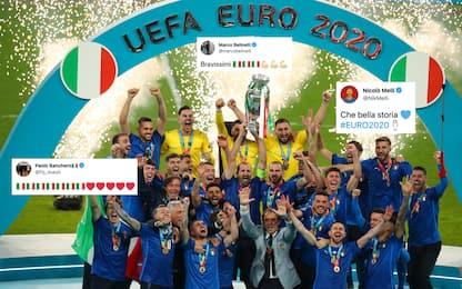 Anche Banchero esulta per la vittoria dell'Italia