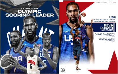 Team USA Durant all-time top scorer alle Olimpiadi
