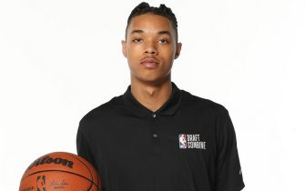 CHICAGO, IL - JUNE 22: NBA Draft Prospect, Brandon Boston Jr. poses for a portrait during the 2022 NBA Draft Combine on June 22, 2022 at the Wintrust Arena in Chicago, Illinois. NOTE TO USER: User expressly acknowledges and agrees that, by downloading and or using this photograph, user is consenting to the terms and conditions of the Getty Images License Agreement. Mandatory Copyright Notice: Copyright 2022 NBAE (Photo by Joe Murphy/NBAE via Getty Images)