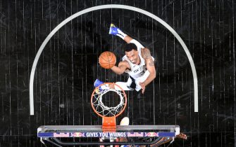 SAN ANTONIO, TX - APRIL 22: Keita Bates-Diop #31 of the San Antonio Spurs shoots the ball during the game against the Detroit Pistons on April 22, 2021 at the AT&T Center in San Antonio, Texas. NOTE TO USER: User expressly acknowledges and agrees that, by downloading and or using this photograph, user is consenting to the terms and conditions of the Getty Images License Agreement. Mandatory Copyright Notice: Copyright 2021 NBAE (Photos by Logan Riely/NBAE via Getty Images)