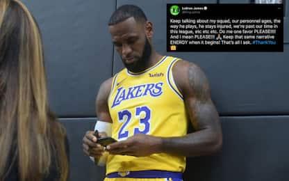"""LeBron chiama gli """"haters"""", poi cancella il tweet"""