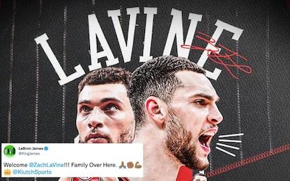 LeBron accoglie Zach LaVine nella Klutch Sports