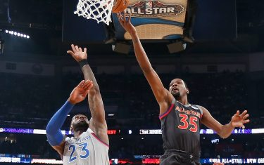 during the 2017 NBA All-Star Game at Smoothie King Center on February 19, 2017 in New Orleans, Louisiana. NOTE TO USER: User expressly acknowledges and agrees that, by downloading and/or using this photograph, user is consenting to the terms and conditions of the Getty Images License Agreement.