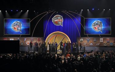 SPRINGFIELD, MASSACHUSETTS - SEPTEMBER 11: The class of the  2021Naismith Memorial  Basketball Hall of Fame ceremony at Symphony Hall on September 11, 2021 in Springfield, Massachusetts. (Photo by Maddie Meyer/Getty Images)