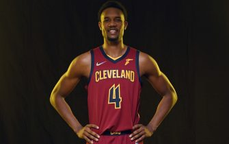 INDEPENDENCE, OHIO - SEPTEMBER 27: Evan Mobley #4 of the Cleveland Cavaliers posses during Media Day at Cleveland Clinic Courts on September 27, 2021 in Independence, Ohio. NOTE TO USER: User expressly acknowledges and agrees that, by downloading and or using this photograph, User is consenting to the terms and conditions of the Getty Images License Agreement. (Photo by Jason Miller/Getty Images)