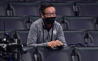 LOS ANGELES, CA  -  FEBRUARY 21: Governor Joe Tsai of the Brooklyn Nets looks on during the game against the LA Clippers on February 21, 2021 at STAPLES Center in Los Angeles, California. NOTE TO USER: User expressly acknowledges and agrees that, by downloading and/or using this Photograph, user is consenting to the terms and conditions of the Getty Images License Agreement. Mandatory Copyright Notice: Copyright 2021 NBAE (Photo by Adam Pantozzi/NBAE via Getty Images)