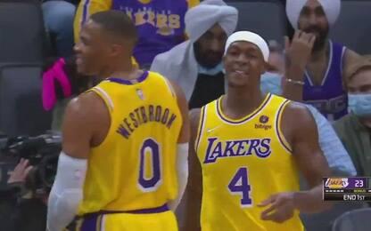 Lakers, che confusione: Rondo in testa a Westbrook