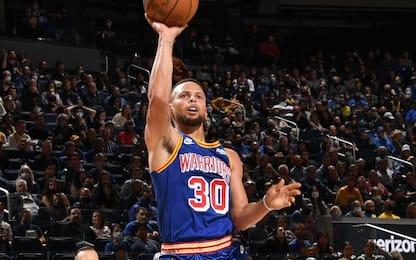 Curry da impazzire: 25 punti in un quarto. VIDEO