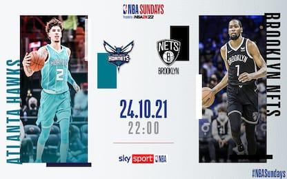 NBA Sundays: Brooklyn-Charlotte domani sera su Sky