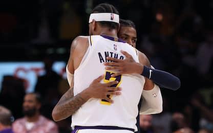 Melo spinge i Lakers e batte Morant, Warriors ok