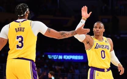 I Lakers vincono senza LeBron, 4-0 Golden State