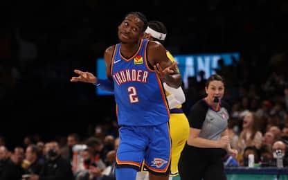 Crollo Lakers contro OKC, perdono Bucks e Nets