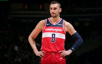 WASHINGTON, DC - MARCH 3: Sam Dekker #8 of the Washington Wizards looks on against the Minnesota Timberwolves on March 3, 2019 at Capital One Arena in Washington, DC. NOTE TO USER: User expressly acknowledges and agrees that, by downloading and or using this Photograph, user is consenting to the terms and conditions of the Getty Images License Agreement. Mandatory Copyright Notice: Copyright 2019 NBAE (Photo by Ned Dishman/NBAE via Getty Images)